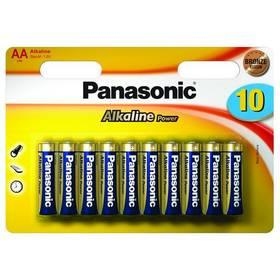 Baterie Panasonic AA, R06 ALKALINE POWER, BLISTR 10 KS