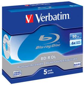 Disk Verbatim BD-R DualLayer 50GB, 6x, jewel, 5ks (43748)