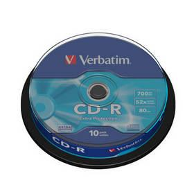 Disk Verbatim CD-R 700MB/80min, 52x, Extra Protection, 10-cake (43437)