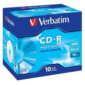 Disk Verbatim CD-R 800MB/90min, 40x, jewel box, 10ks (43428)